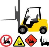 铲车 向量例证