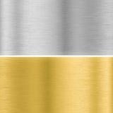 银和金金属纹理 皇族释放例证