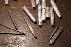 银器匠工具 库存图片