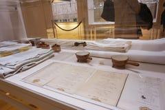 银器被陈列在Hofburg博物馆皇家银色收藏 库存图片