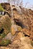 银在克里米亚放出瀑布 免版税图库摄影