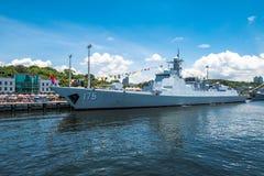 银川第175导弹驱逐舰 免版税库存图片