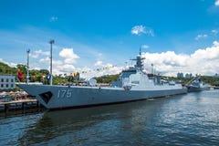 银川第175导弹驱逐舰 库存照片