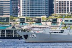 银川第175导弹驱逐舰 免版税库存照片