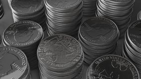 银币合金栈 向量例证