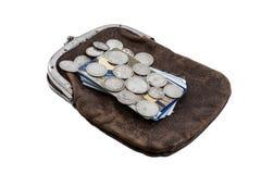 银币和信用卡 免版税库存照片