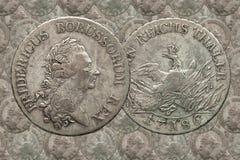 银币德国人帝国普鲁士1个塔勒Fredericus 1786 免版税图库摄影