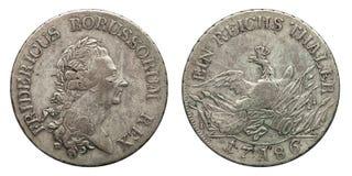 银币德国普鲁士1个塔勒弗里德里克1786 库存图片