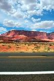 银朱的峭壁美国 图库摄影