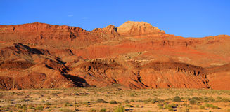 银朱的峭壁,页亚利桑那 库存照片