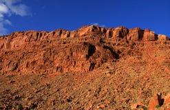 银朱的峭壁 免版税图库摄影