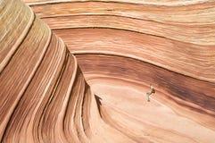 银朱的峭壁 免版税库存照片