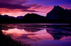 银朱2个的湖 库存照片