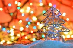 银架线的圣诞树 库存照片