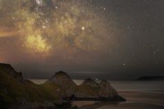 银河三峭壁海湾 免版税库存图片