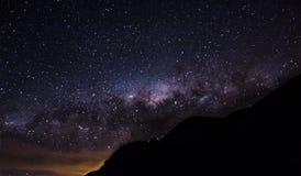 银河和山 库存图片