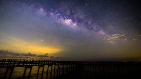 银河时间间隔在桥梁的 股票录像