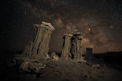 银河星系的时间间隔长的曝光图象 免版税库存照片