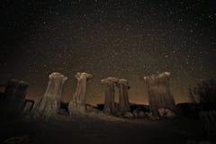 银河星系的时间间隔长的曝光图象 免版税库存图片