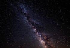 银河星系 夜空星形 图库摄影