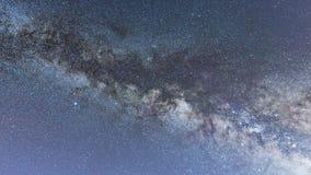 银河星系深森林美丽的夜空 免版税库存照片
