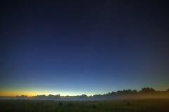 银河星系的星在夜空的 空间在bac中 库存图片