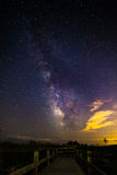 银河的木板走道 免版税库存照片