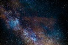 银河的核心 免版税库存照片