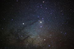 银河的Antares地区的一个广角看法 库存图片