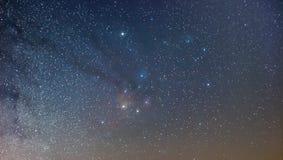 银河的Antares地区,广角看法 图库摄影