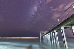 银河设置在槟榔岛 图库摄影