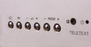 银灰色按钮 免版税图库摄影