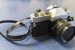 银的照相机 免版税库存图片