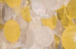 银盘由节日事件的金器 库存照片