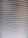 银色串缆绳纹理 免版税库存照片