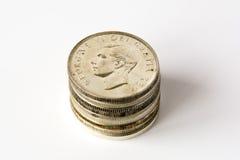 银色加拿大元 库存照片
