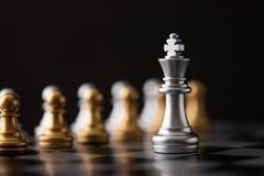 银色国王是领导 库存图片