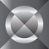 银色圈子十字架摘要 库存图片