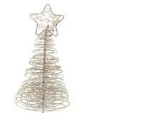 银色圣诞树 库存照片