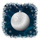 银色圣诞节球 免版税库存图片
