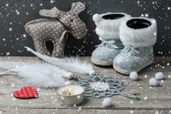 银色圣诞节装饰,梦想俘获器 库存照片