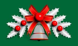 银色圣诞节诗歌选的例证 库存照片
