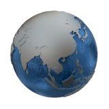 银色地球上的东南亚 免版税库存图片