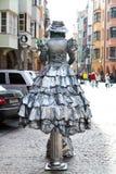 银色妇女cistume 免版税库存图片