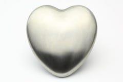 银色心脏 库存照片