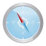 银色指南针设计  皇族释放例证