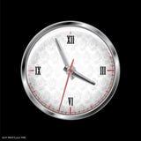 银色时钟 免版税库存图片
