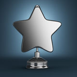 银色星奖 免版税库存照片