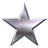 银色星形 免版税库存照片