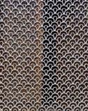 银色曲线形状模式纹理 免版税图库摄影